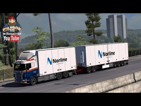 [ETS2 v1.30] Kraker/NTM Tandem addon for RJL Scania by Kast #1