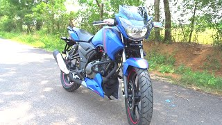 #Bikes@Dinos: TVS Apache RTR 160 Matte Blue Walkaround, Test Ride Review