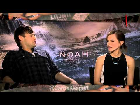 Russell Crowe, Emma Watson, Logan Lerman, Douglas Booth & Ray Winstone on NOAH