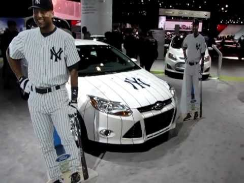Ford S New York Yankees Car Starring Derek Jeter Cardboard Cut Outs Youtube