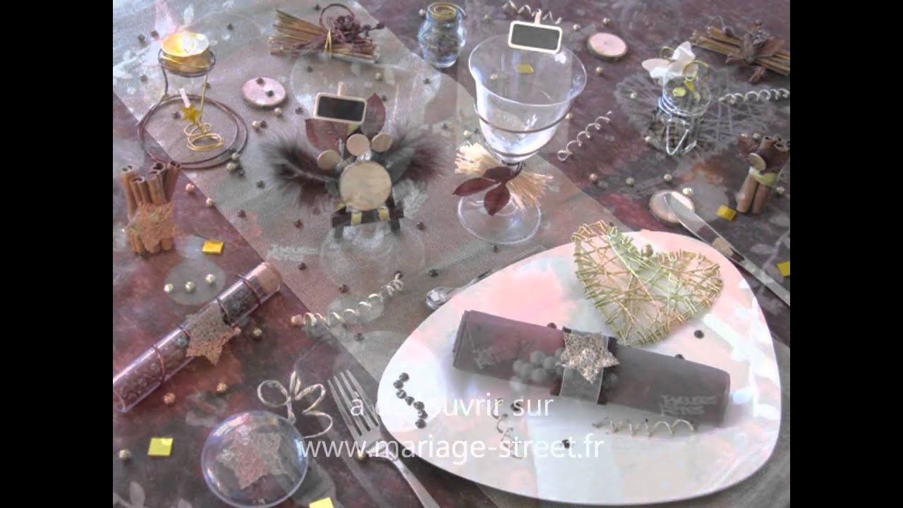 Les plus belles decorations de mariage youtube for Table verre 6 personnes