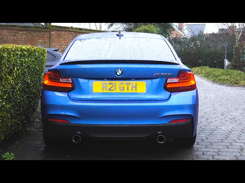 BMW M235i M Performance Exhaust! Engine Sounds - Cold Start / Revs / Hard Acceleration (N55 M135i)
