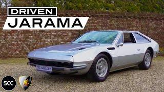 LAMBORGHINI 400 GT JARAMA 1972 - Test drive in top gear - V12 Engine sound | SCC TV
