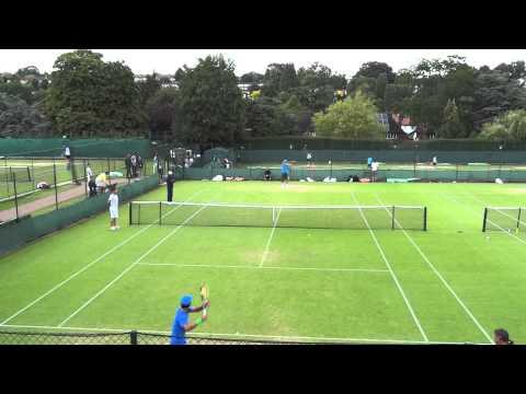 20110624溫布頓盧彥勳(yen-hsun Lu)和Rafael Nadal練球(三)