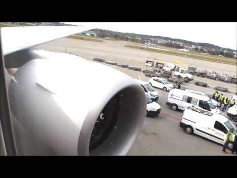 Swiss Air Boeing 777-3DE(ER)   Geneva to Zurich *Full Flight*