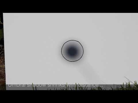 Flat Earth - Simple demo debunks FE eclipse nonsense