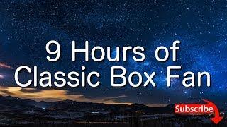 Classic Box Fan For Sleeping 9 Hours White Noise Asmr Meditation