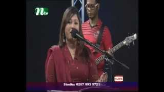 pankha hoilo mon singing by UK most popular bengali singer Shefali in live ntv show by Raihan