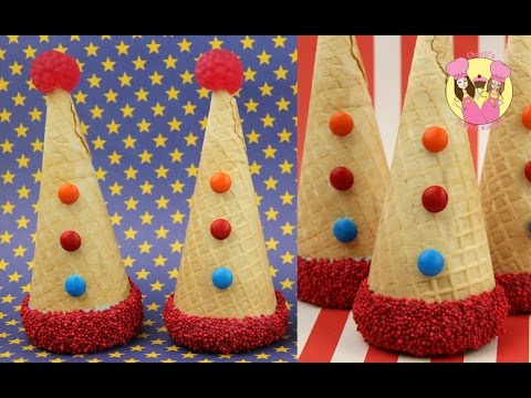 CLOWN PARTY HAT PINATA CONES! Great for a carnival or ...