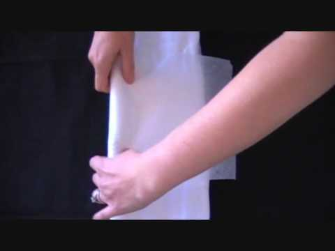 Cloth diaper folding - Girls