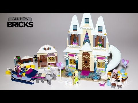 Lego Disney Frozen Arendelle Castle Celebration with Anna and Kristoffs Sleigh Adventure Speed Build