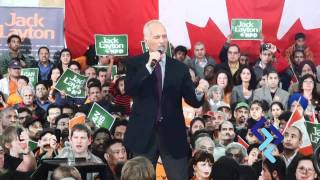 Last Day of the Campaign - Jack Layton & Rathika