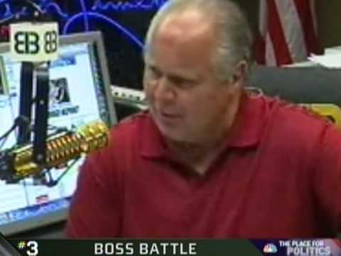 Rush Limbaugh was lectured by