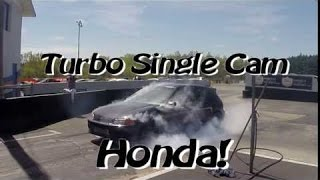 Sleeper Turbo Single Cam Honda Takes Down a Ludicrous Tesla Drag Racing!