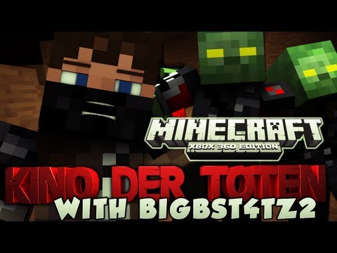 MINECRAFT ZOMBIES (Xbox 360) - KINO DER TOTEN w/Big B statz - Part 1