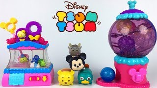 DISNEY TSUM TSUM TSWEET BOUTIQUE WITH CLAW MACHINE BUBBLE GUM MACHINE & DISPLAY CASES - UNBOXING