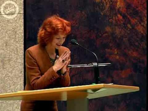 Gonny van Oudenallen herkent Minister Hans Hoogervorst niet