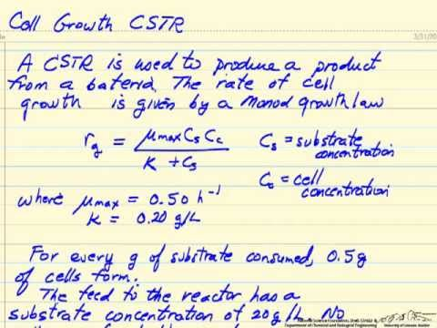 Washout Calculation for CSTR Bioreactor (Bio)