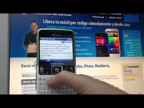 Liberar Samsung C6620 de Movistar, Orange y Vodafone por código
