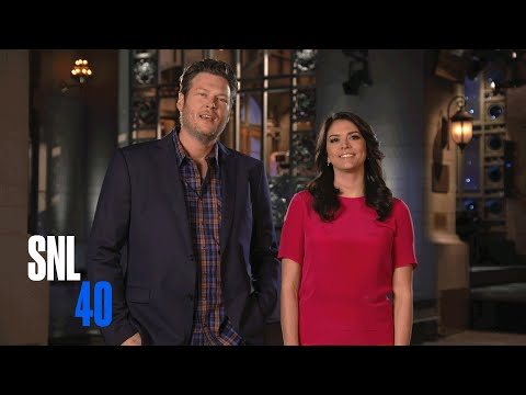 SNL Host Blake Shelton and Cecily Strong Taunt Adam Levine - Saturday Night Live