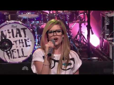 Avril Lavigne - What The Hell  The Tonight Show Jay Leno 14 03 2011 video