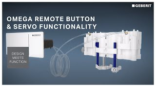 Geberit Omega square remote button & Hydraulic servo lifter - Functionality