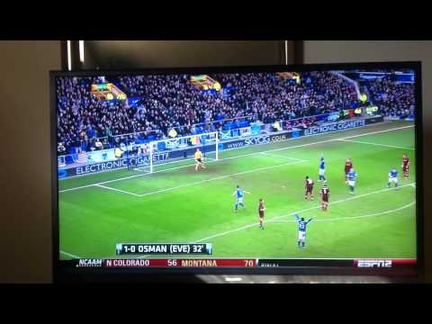 Leon Osman Wonder Goal Vs. Manchester City EPL (3/16/2013)