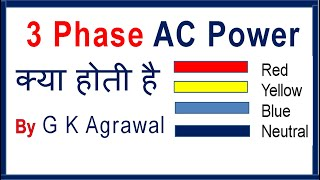 In Hindi 3 phase AC power supply & 1 phase AC supply
