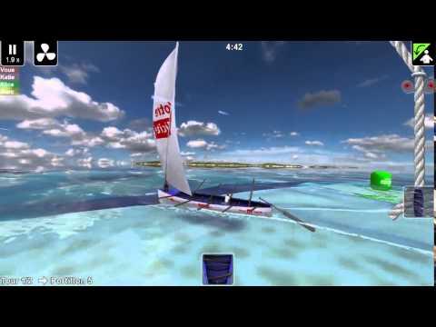Yoles Martinique / Simulation du tour des yoles rondes