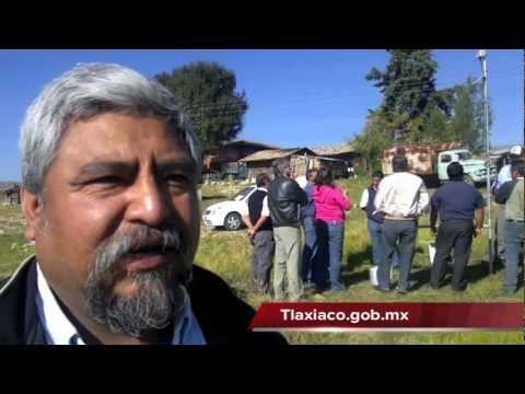 Instalación de la estación agro-climatológica, Tlaxiaco