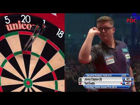 Jonny Clayton vs. Ted Evetts   German Darts Grand Prix 2019   Round 2