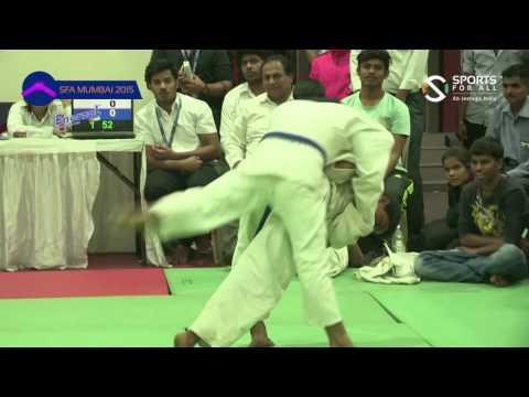 SFA Mumbai 2015 | Judo | Gurav Pratham Sanjay Vs Saurabh Yadav | Boys | U-14 | 45Kg | Final |