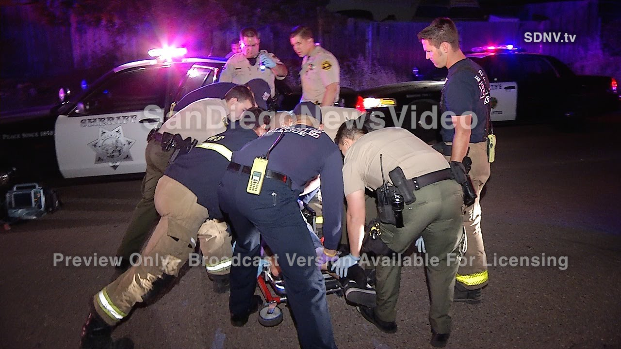 SPIKE STRIP TAKES OUT SUSPECT DURING PURSUIT - SCENE
