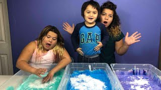Making 3 Gallons of cloud slime - Giant Cloud slime