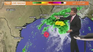 Saturday 10 am Tropical Weather Update: Beta slowing down, Louisiana landfall possible