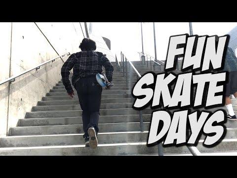 A COUPLE FUN SKATE DAYS !!! - NKA VIDS -
