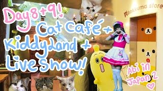 COSPLAYING & MUNCHKIN CATS?!   Day 8 & 9 - Cat Café   Kiddyland   Idol live   Abipop in Japan 2015 ♡