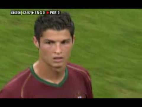 Cristiano Ronaldo head butt Wayne Rooney World Cup 2006