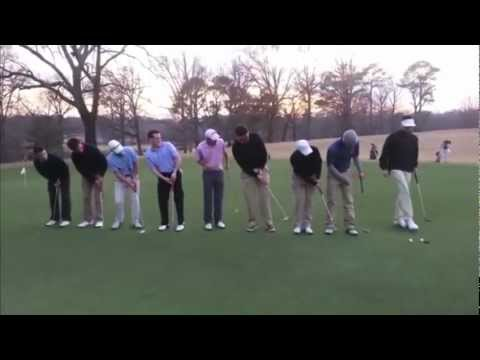 9 Golfers Putt At same TIME Into One Hole...TheBoozTube