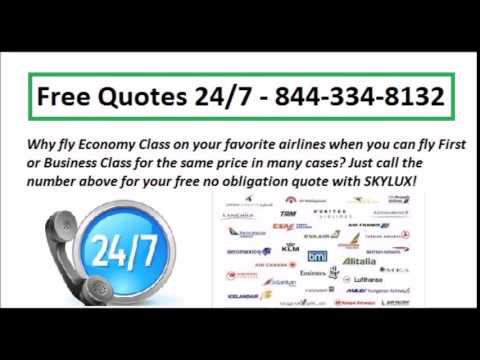 Discount First and Business Class Flights - Free Quotes
