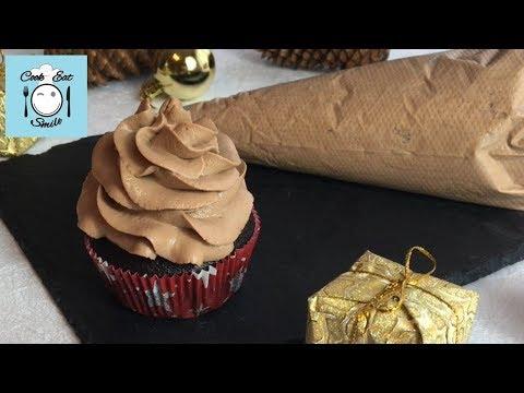 Шоколадный крем для торта капкейков. Шоколадный крем-чиз