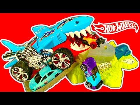 Hot Wheels 3 Color Shifters Playsets Fun Extreme Action Sharkruiser