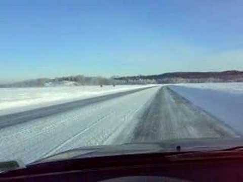 big lake alaska ice road youtube
