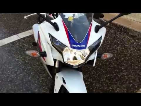HONDA CBR 125 R 2013 WHITE REVIEW