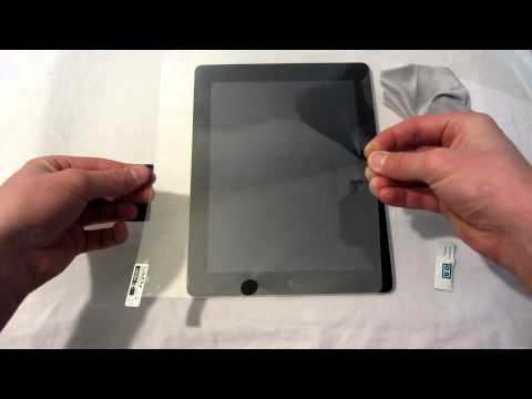 HOW TO apply a screen protector on an iPad.