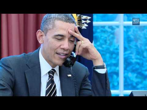 The President Calls Baltimore Ravens Coach John Harbaugh