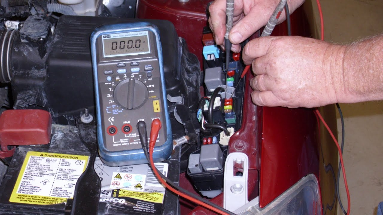 How To Check Fuse Box In Car : Using voltage drop to find key off battery drains youtube