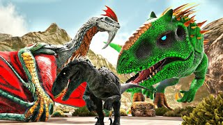 Papai InDragonRaptor: A Joia do Infinito Celestial Indominus Rex! Dinossauros Ark Survival Evolved