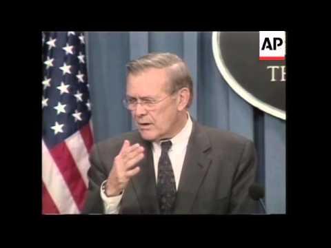 WRAP Rumsfeld and Australian PM on Iraq, Powell on NATO crisis
