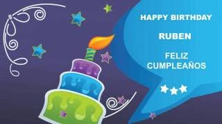 Ruben english pronunciation   Card Tarjeta195 - Happy Birthday